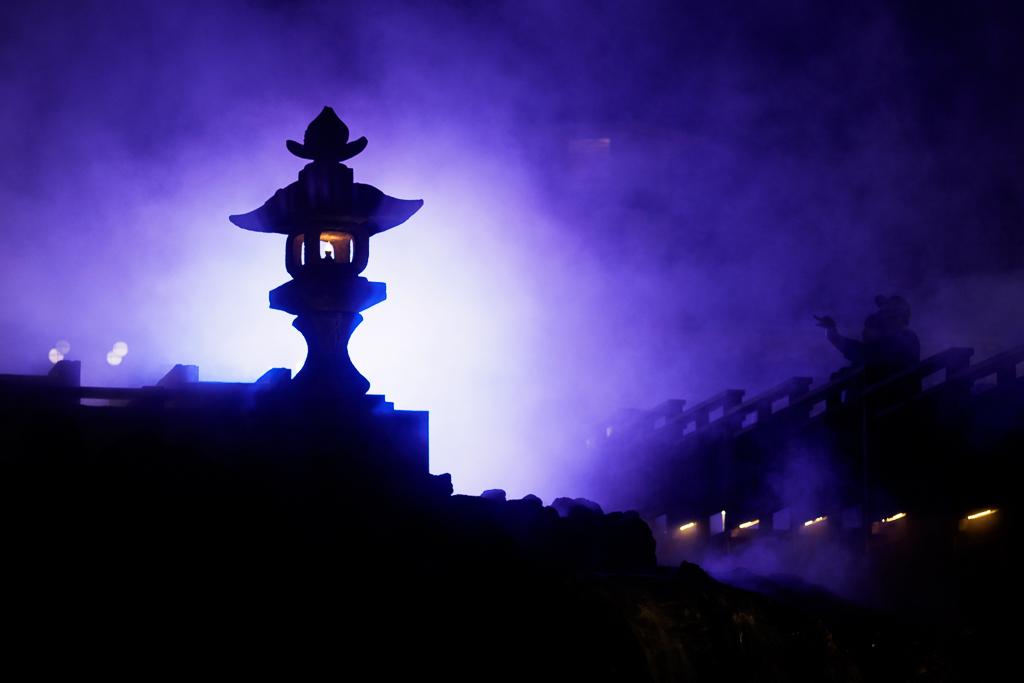 草津温泉ライトアップ